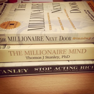 "My collection of Dr Stanley's works - My favourite ""Stop acting rich"""